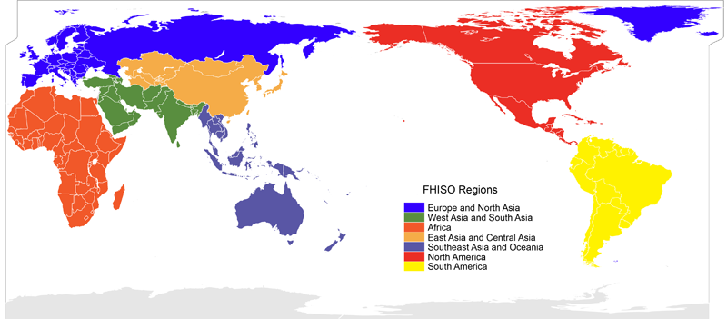 FHISO Regions of the World